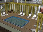 Lower Deck with Pool (Artist Rendering)