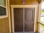 Front porch closet available for renter use to store sports equipment