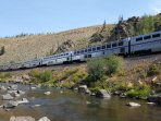 Amtrak's Zephyr train between Denver and California passes through the Fraser Canyon