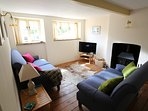 Lounge with LCD TV & wood burning stove