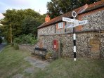 Warham signpost
