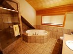 The cabin offers great amenities!