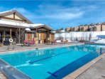 Heated community pool with large hot tub is available for guest use year-round
