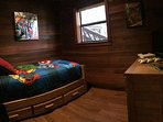 Heroes Bedroom has an X-Box One with Games, Dish Satellite and Free Wi-Fi