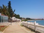 This part of the seaside promenade is only 50 meters from the villa