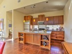 Preparing home-cooked favorites is a breeze in the fully equipped kitchen.