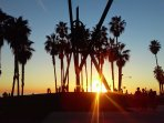 Catch the sunset down the street at Venice beach