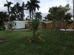 Fully fenced backyard