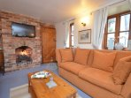 Lounge with gas fire
