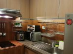 Well equipped kitchen with induction cooktop