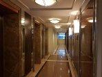 Elevator foyer and hallway