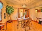 Savor homemade meals in the formal dining room at the 4-person table.