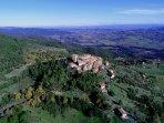The medieval village of Montecastelli Pisano 500m near the Villa.