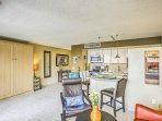There's plenty of space to move around comfortably in the condo.