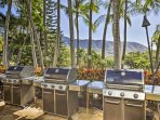 Spend a leisurely day grilling before heading to the community saltwater pool.