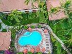Aerial of Nihi Kai Swimming Pool