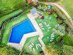 Aerial of Manualoha Pool