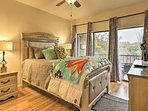 The master bedroom offers direct access to the balcony.
