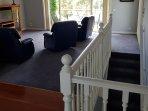 Upstairs Living Room, sofa tv