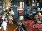 Livingroom with flowers
