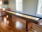A 12-inch shuffleboard table has been added to the carriage house.