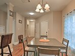 You'll feel right at home as you enjoy dinner with the family at the 4-person dining table.
