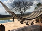 Many visitors have enjoyed  this hammock a stunning view.