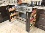 Spice Racks on sides of Oven