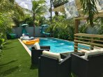 Pool Side Seating and Lounge Area
