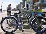 Bikes for rent on the boardwalk.