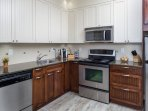 This gorgeous condo features a well-equipped, spacious kitchen