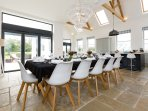 Beautiful light dining area open to the kitchen and snug area