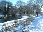 River Camel - snow on the estate