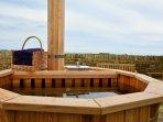 Eco-friendly wood fired hot tub