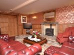 Drawing room with gas fire and 42 inch TV