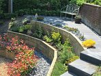 Terraced garden to the side