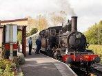 Steam train nearby