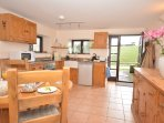 Kitchen/dining area with countryside views