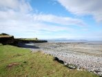 Kilve beach within walking distance from the cottage