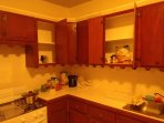 Your spacious kitchen equipped with large fridge freezer and cooking utencils