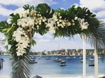 A beautiful backdrop for photos. A great venue to prepare for a wedding or a special event.