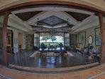 The Inn at Rancho Santana,  features an art gallery, courtyard, café, and lounge.