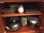 Examples of items in kitchen cabinets (July 2017)