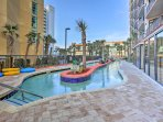 Children will love floating along the condo's lazy river.