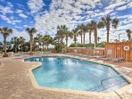 Enjoy access to resort amenities including 2 outdoor pools, hot tub, and fitness center.