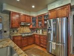 Enjoy top-of-the-line stainless steel appliances!