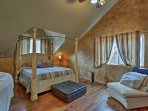 Drift to sleep on the comfortable queen bed in the master bedroom.