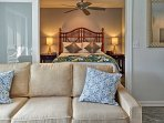 Grab a midday nap on the couch or retreat to the comfortable bedroom.