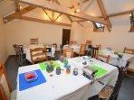 Craft studio set up for a children's craft session