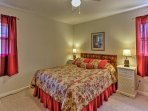 Relax on the cozy full mattress in the second bedroom.